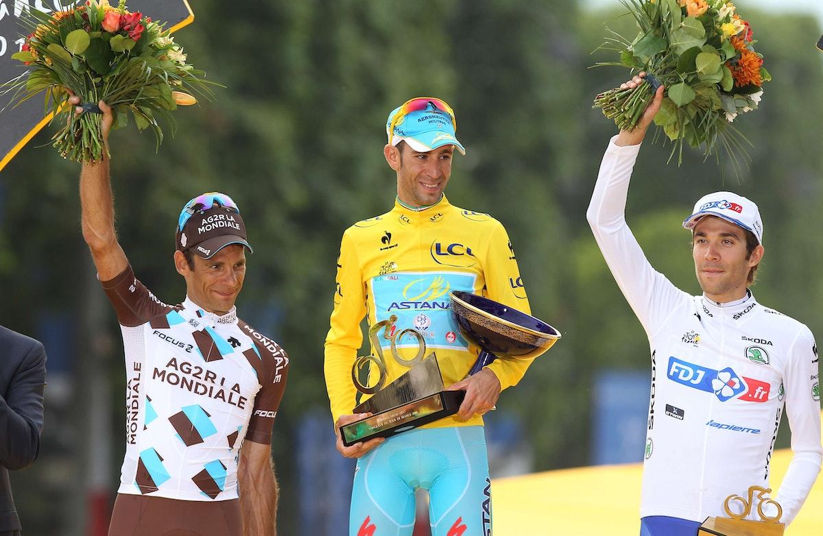 Risultati immagini per jean christophe peraud tour de france podium